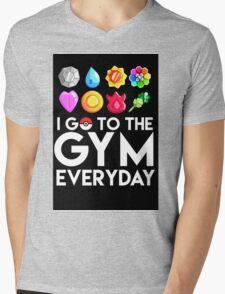 Pokemon - I GO TO THE GYM EVERY DAY Mens V-Neck T-Shirt