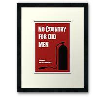 No Country For Old Men film poster Framed Print