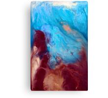 BLISS earth tone fluid acrylic abstract art painting or print contemporary artwork Canvas Print