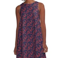 Battlescar - Blue/Red A-Line Dress