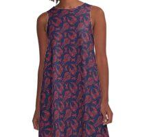 Battlescar - Blue/Red A-Line Dress