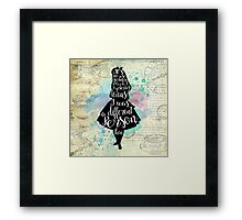 Alice - I Was A Different Person Then Framed Print