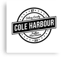 Cole Harbour Black  Canvas Print