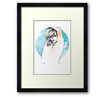 Cancer Zodiac Fashion Illustration Framed Print