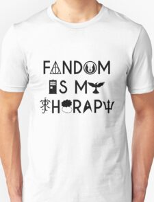 Fandom is My Therapy Geeky Nerdy Fangirl Unisex T-Shirt