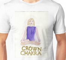 The Lotus Pose The Crown Chakra Unisex T-Shirt