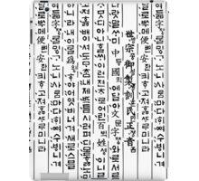 Old Korean language 'Hunminjeongeum' iPad Case/Skin