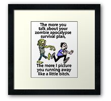 Zombie Apocalypse Survival Plan Framed Print