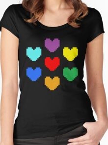 Pixel Hearts Women's Fitted Scoop T-Shirt