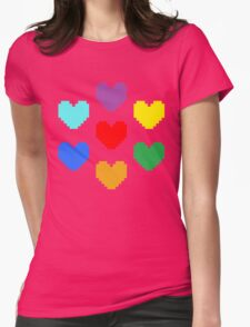 Pixel Hearts Womens Fitted T-Shirt
