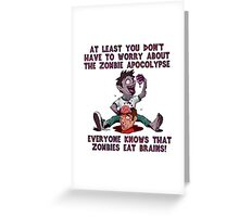 Zombies Eat Brains Greeting Card