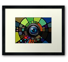 Camera Lens Graphic Design Framed Print