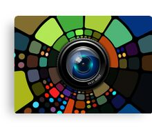 Camera Lens Graphic Design Canvas Print