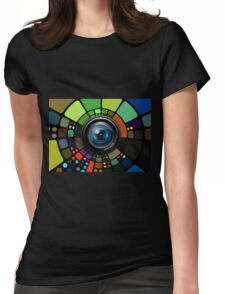 Camera Lens Graphic Design Womens Fitted T-Shirt