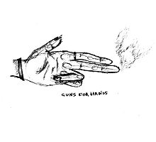 GUNS FOR HANDS Photographic Print