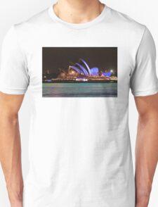 Green water, blue sails T-Shirt