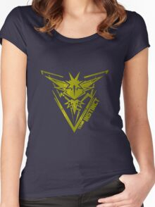 yellow team INSTINCT Women's Fitted Scoop T-Shirt