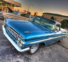 1959 El Camino in Blue by Adam Bykowski