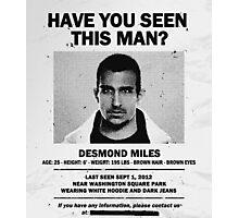 Desmond Miles Photographic Print