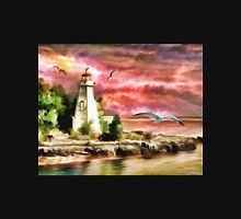 Water painting light house and birds Unisex T-Shirt