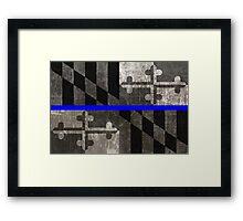 Maryland Thin Blue Line Framed Print