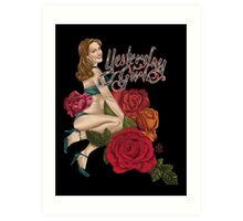 Yesterday Girl - Retro Pin-Up Art Print