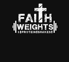Faith Weights and Protein Shakes - Christian Fitness Gym T Shirt Unisex T-Shirt