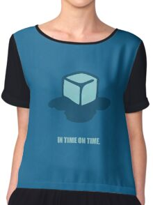 In time on time - Business Quote Chiffon Top