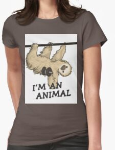 I'm an animal Womens Fitted T-Shirt