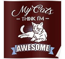 my cat think im awesome Poster