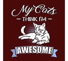 my cat think im awesome Photographic Print