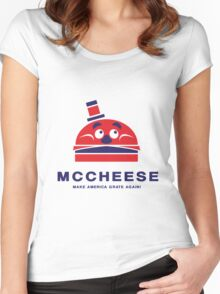 MCCHEESE FOR PRESIDENT 2016 Women's Fitted Scoop T-Shirt