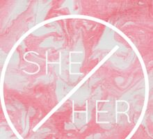 she/her Sticker