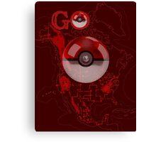 Pokemon Go Map Logo Canvas Print