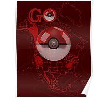 Pokemon Go Map Logo Poster
