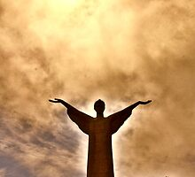 Christ the Redeemer Statue, Maratea, Italy by Barbara  Brown
