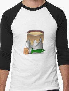 Paint bucket and Brush Men's Baseball ¾ T-Shirt