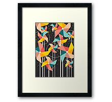 Colourful Pinwheels Framed Print