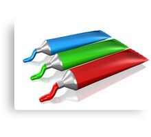 Red Green Blue Cream colors Canvas Print