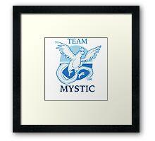 PKMNGO TEAM Mystic Alliance! Framed Print
