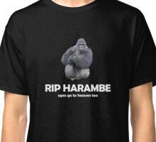 RIP HARAMBE apes go to heaven too Classic T-Shirt