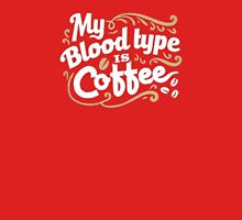 Coffee Blood Type Unisex T-Shirt