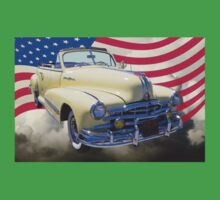 1948 Pontiac Silver Streak With American Flag Kids Clothes