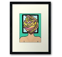 Icing Hair in Mirror  Framed Print