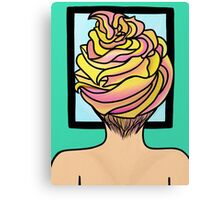 Icing Hair in Mirror  Canvas Print