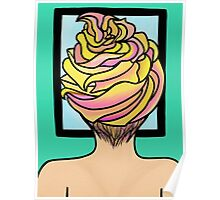Icing Hair in Mirror  Poster