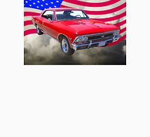 1966 Chevy Chevelle SS 396 and United States Flag T-Shirt
