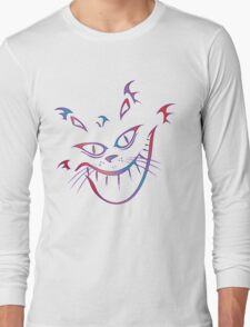 Crazy Cheshire Cat Grin Long Sleeve T-Shirt