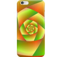 Spiral in Yellow Orange and Green iPhone Case/Skin
