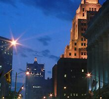 Downtown Milwaukee at Dusk by Timothy  Ruf
